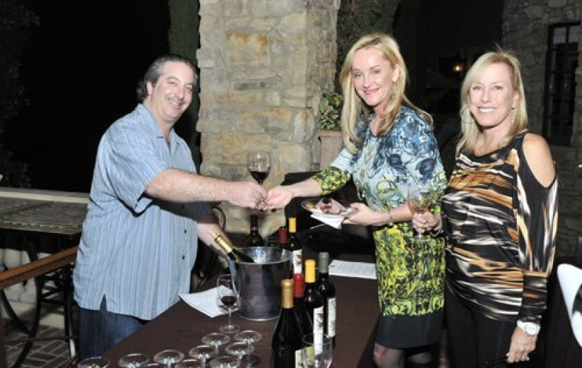 Brian London (www.4playwines.com) with Janet Stannard and Kris Chandler