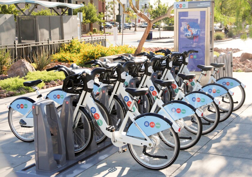 Bike share is now available for visitors to downtown Las Vegas.