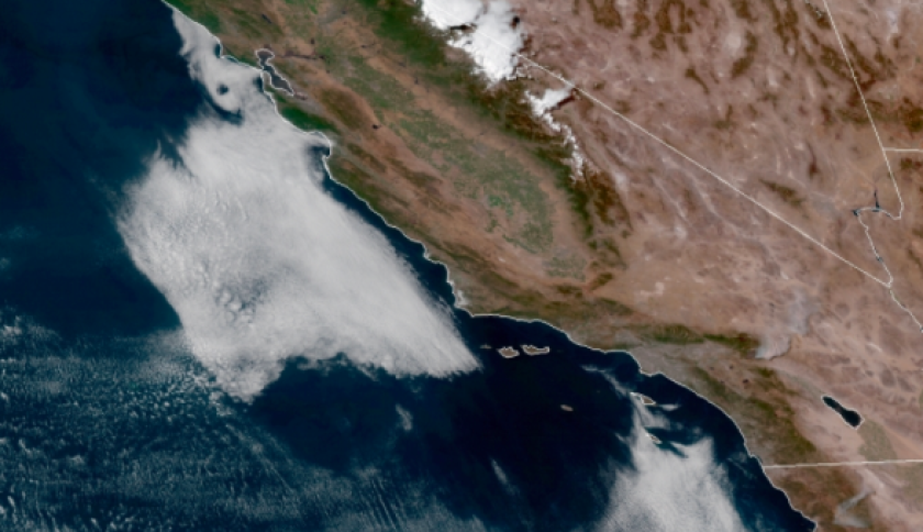 The marine layer remained offshore on Friday.