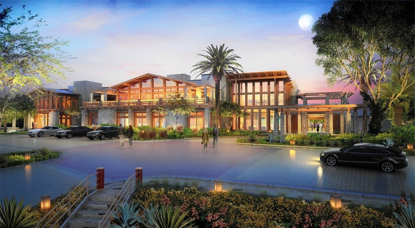 A rendering of the new-look Newport Beach Country Club.