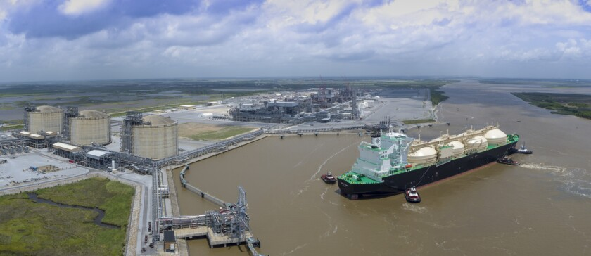 The $10 billion Cameron LNG facility in Louisiana.