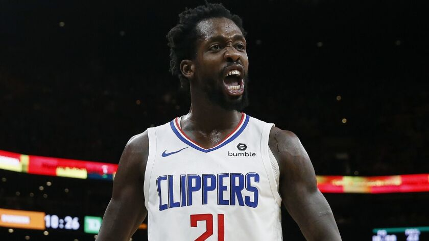 Clippers point guard Patrick Beverley always brings intensity to the court.