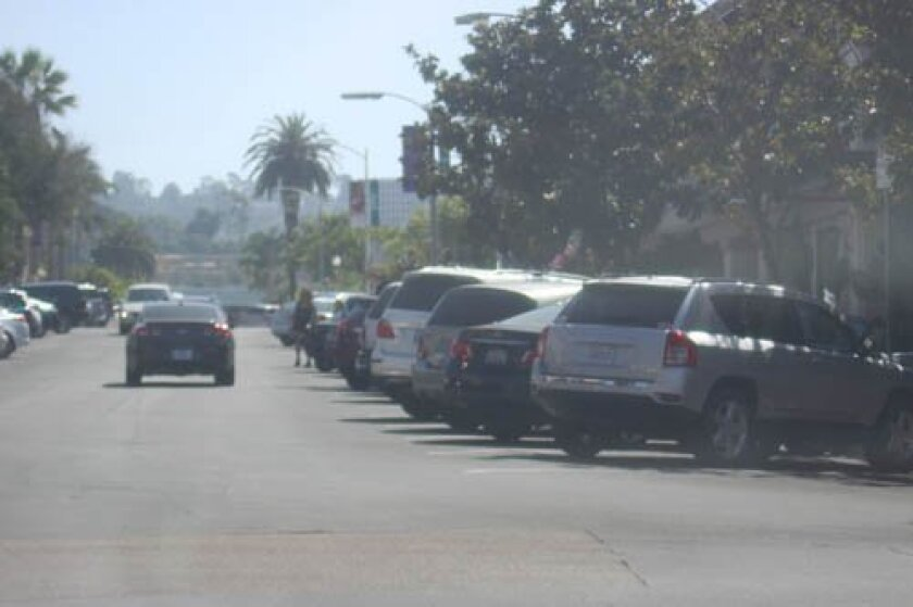 Finding free, public parking in La Jolla Village can be difficult during peak times in the afternoon.