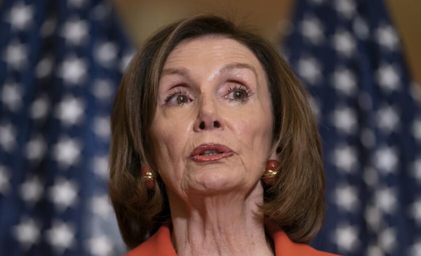 La presidenta de la Cámara de Representantes, la demócrata Nancy Pelosi, en el Capitolio, en Washington.