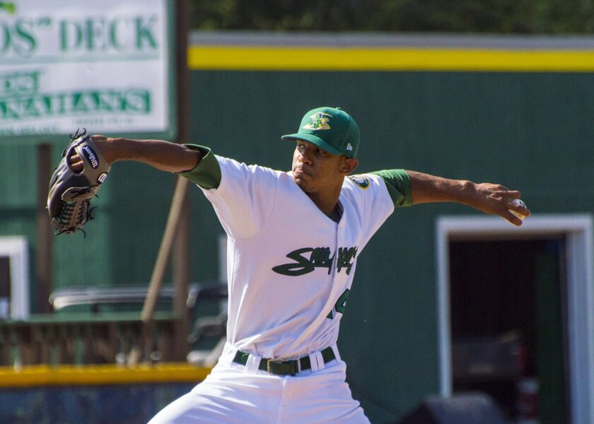 Left-hander Jose Torres pitched for low Single-A Beloit in 2015. The Padres acquired him from the Athletics in November 2015.