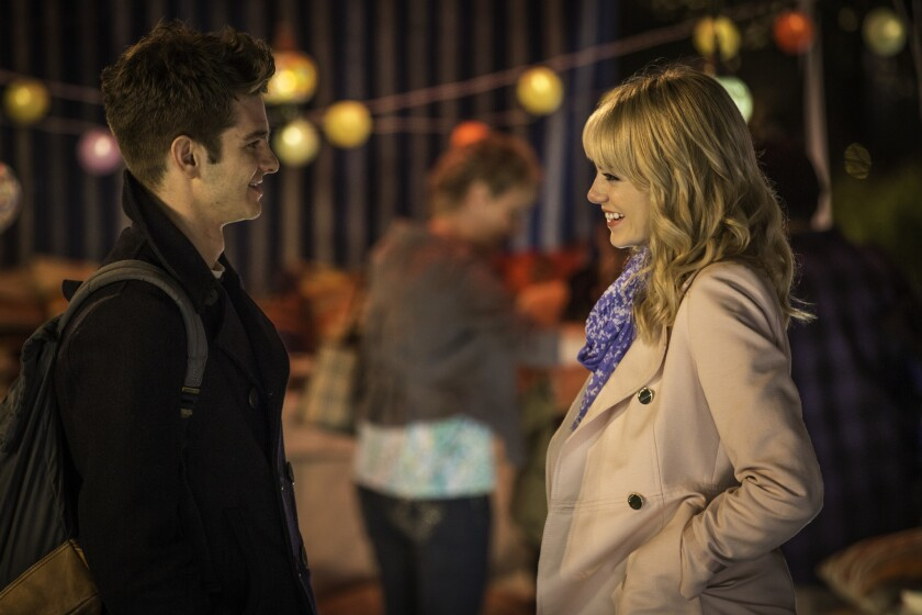 """Andrew Garfield and Emma Stone in """"The Amazing Spider-Man 2."""""""