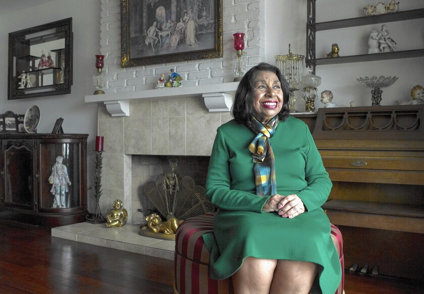 Sylvia Mendez at her home in Fullerton. Mendez's father, Gonzalo, was at the center of Mendez vs. Westminster, which desegregated California schools years before the Supreme Court's landmark Brown vs. Board of Education.