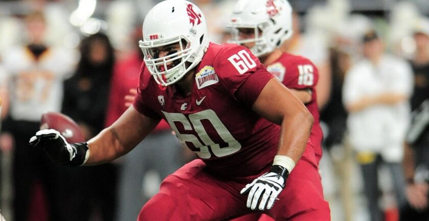 Former Washington State lineman Andre Dillard is a talented four-year starter at left tackle. Dillard is the best pass-protector in this draft class. (The Associated Press)