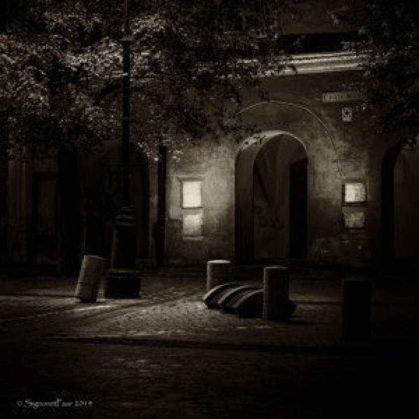 """Best of Show at San Diego County Fair goes to Kim Signoret-Paar for """"The Quiet of the Night in Transylvania,' taken in September 2013 at a small square in Sibiu, Romania."""