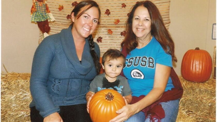 Outgoing Lemon Grove Mayor Mary Sessom (right) with her daughter, Anna, and grandson, Victor.
