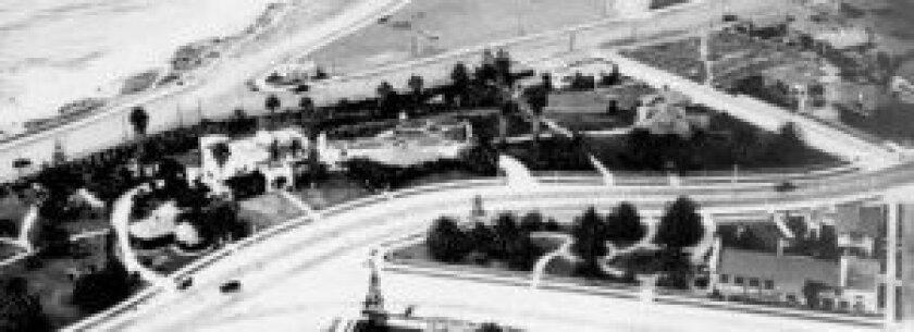 Aerial photograph. 700 prospect, St., La Jolla, circa 1924