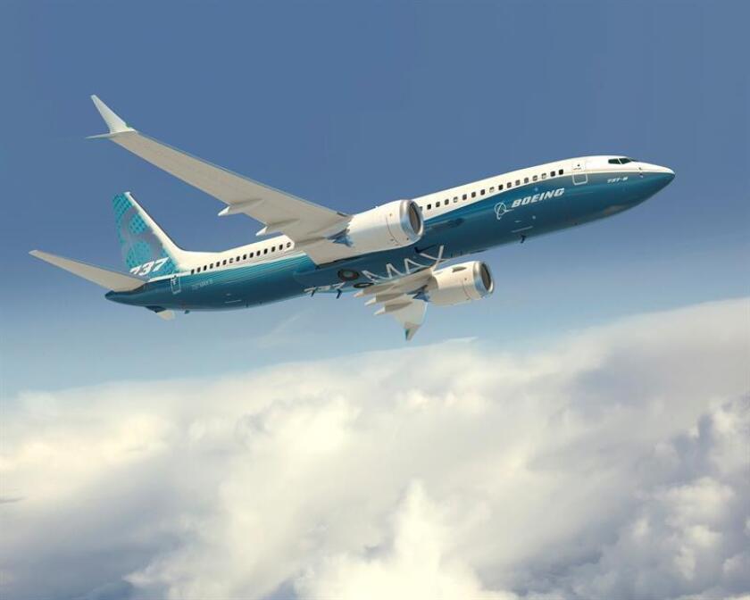 Representación artística del facilitada por Boeing Company de su modelo 737 MAX con los colores de la compañía. EFE/ Boeing / John D. Parker FOTO CEDIDA/SOLO USO EDITORIAL/PROHIBIDA SU VENTA