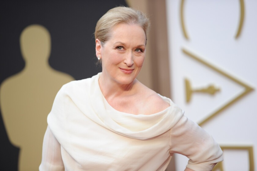"Meryl Streep, shown here at the 86th Academy Awards, is set to play the lead role in the rock 'n' roll dramedy ""Ricki and the Flash."""