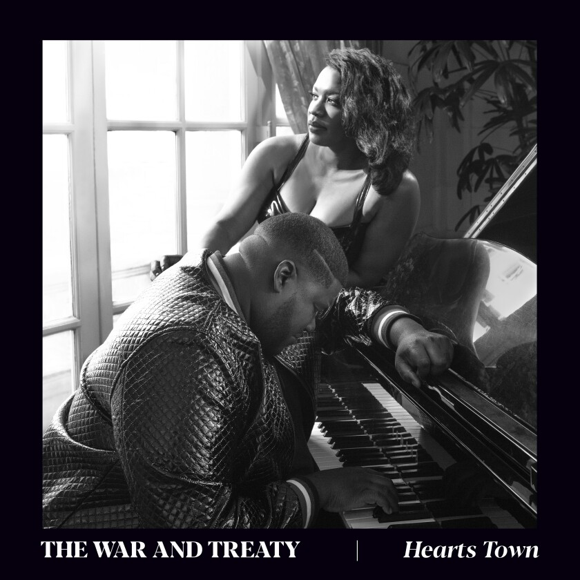 """This cover image released by Rounder Records shows """"Hearts Town"""" by The War and Treaty. (Rounder Records via AP)"""