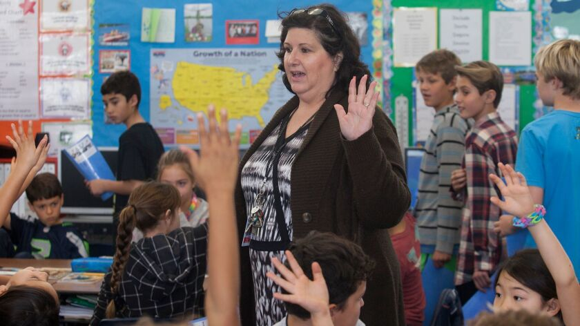 NEWPORT BEACH, CA, January 14, 2016 -- Sixth grade teacher Cass Powell asks for a show of hands of