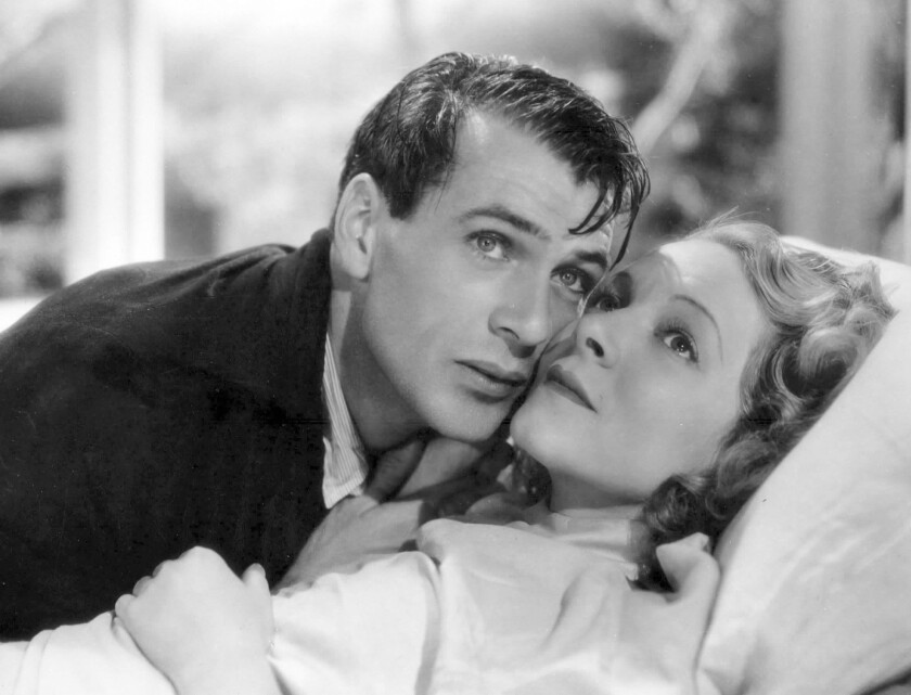 """Gary Cooper and Helen Hayes in """"A Farewell to Arms."""""""