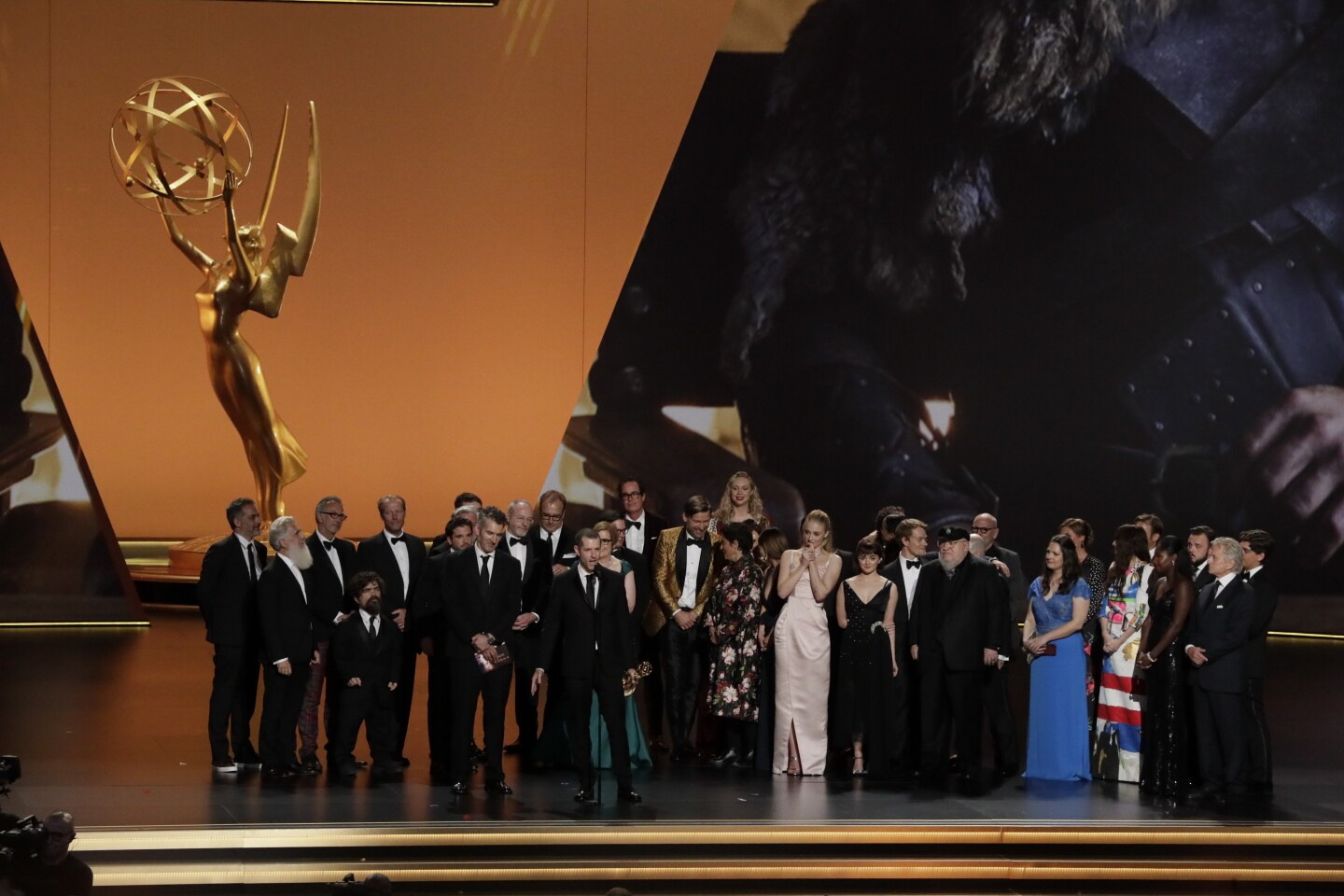 LOS ANGELES, CA., September 22, 2019:ÊThe cast of ÒGame of Thrones,Ó during the show at the 71st Primetime Emmy Awards at the Microsoft TheaterÊin Los Angeles, CA. (Robert Gauthier / Los Angeles Times)