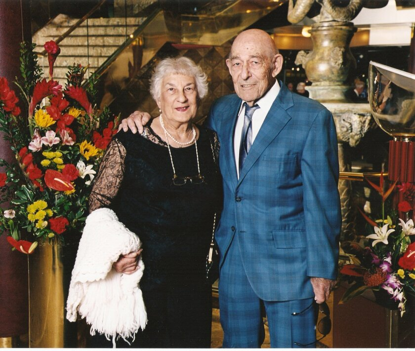 Evelyn and Murray Rogoff of Oceanside were burned when Evelyn's chenille robe caught fire.  <em>   &#8201; Photo courtesy Noel Spaid  </em>