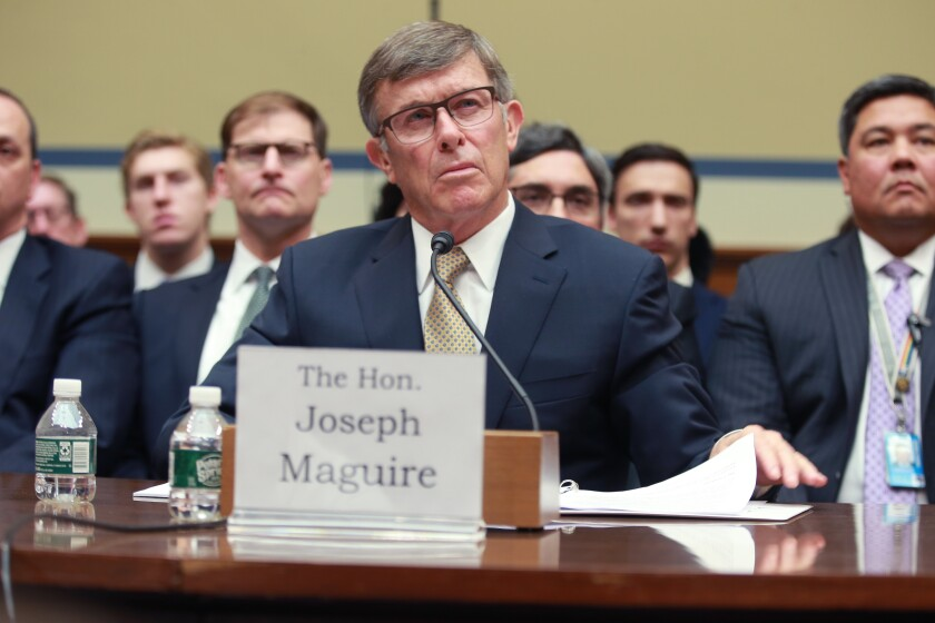 Acting Director of National Intelligence Joseph Maguire testifies before Congress