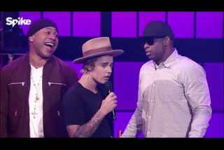 Justin Bieber does 'Big Girls Don't Cry' on 'Lip Sync Battle'