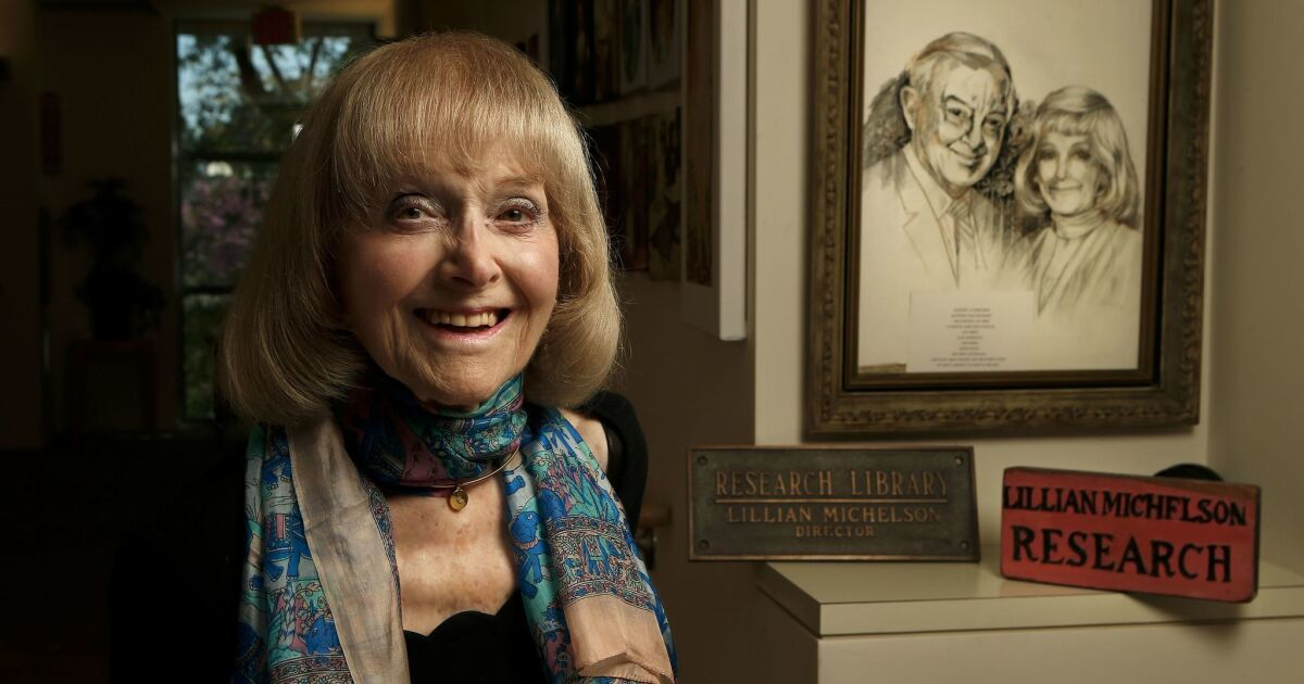 Column One: Lillian Michelson built Hollywood's most famous research library. Can someone give it a home?