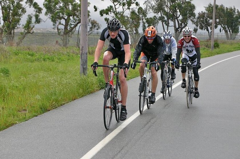Military and civilian riders compete in the Tour de Camp Pendleton. The race is Nov. 2.