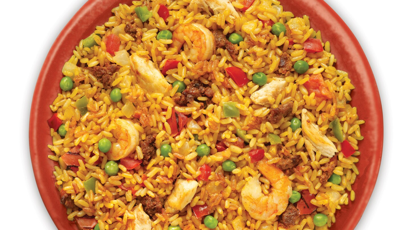 Padma's Easy Exotic Spanish Paella, sold at Costco stores in the Los Angeles area.