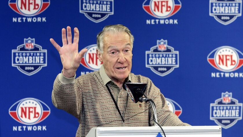 Marv Levy led the Buffalo Bills to four consecutive Super Bowls during his tenure from 1986-97.