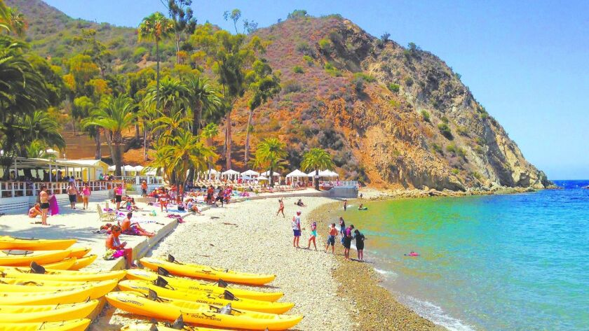 Kayaks, paddleboards and more can be rented at Descanso Beach on Catalina Island.