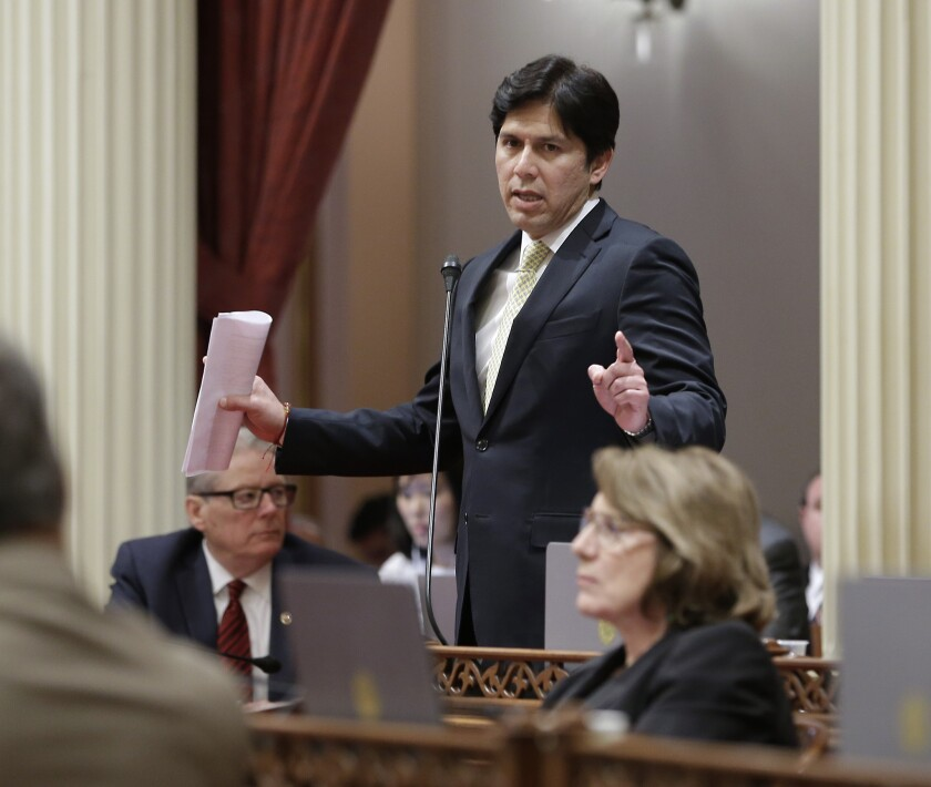 Senate leader Kevin de León (D-Los Angeles) is pushing to make federal environmental rules enforceable by state regulators.