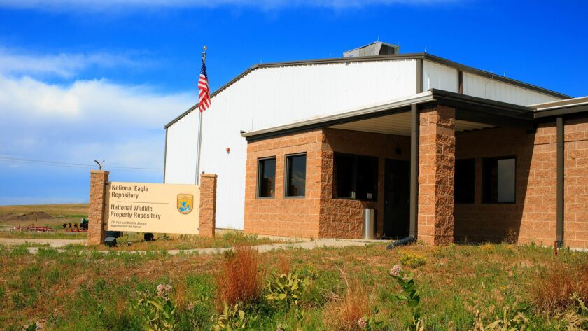 A view of the exterior of the U.S. Fish and Wildlife Service National Wildlife Property Repository