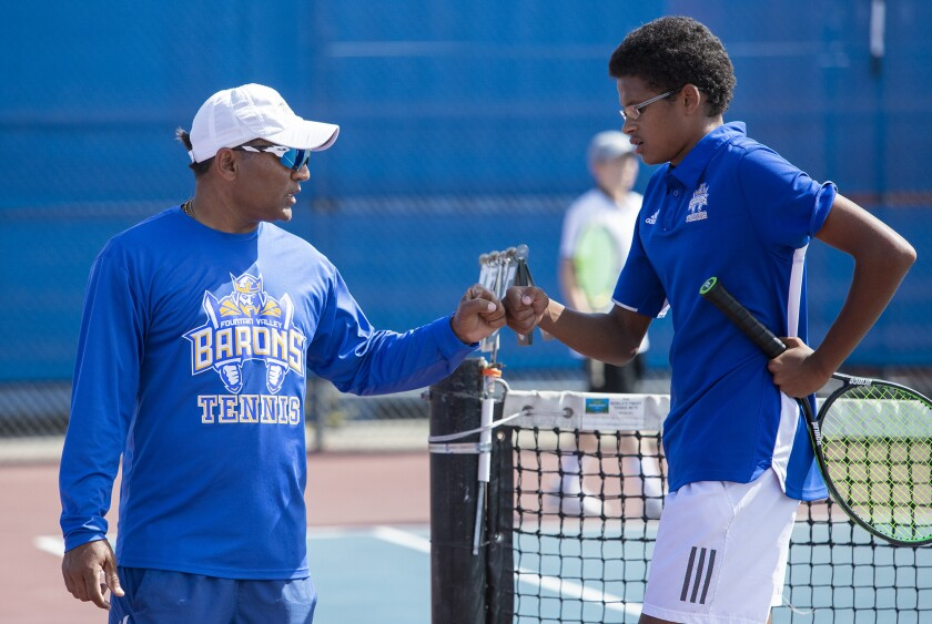 Photo Gallery: Fountain Valley vs. Beverly Hills in boys' tennis