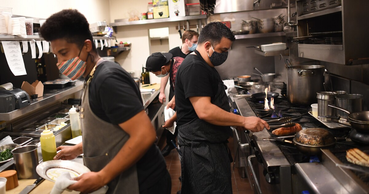 Column: Dejected L.A. restaurants serve their last meals, fear for the future