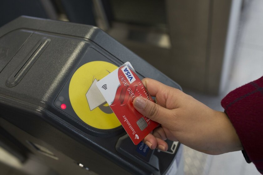 Contactless payment systems let consumers use chip-enabled credit cards, smartphones and smartwatches to purchase transit fares