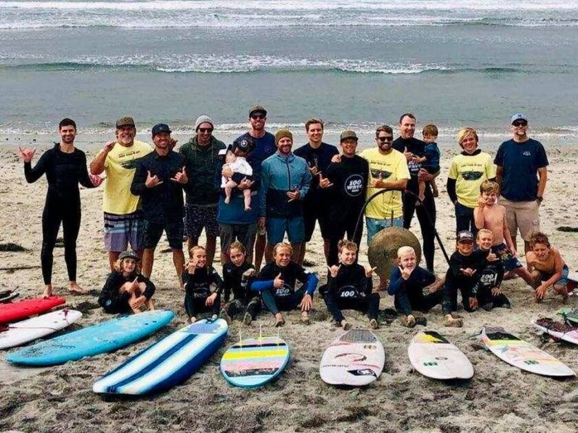 A team is participating in the 2020 100 Wave Challenge, a fundraiser for the Boys to Men Mentoring Network.