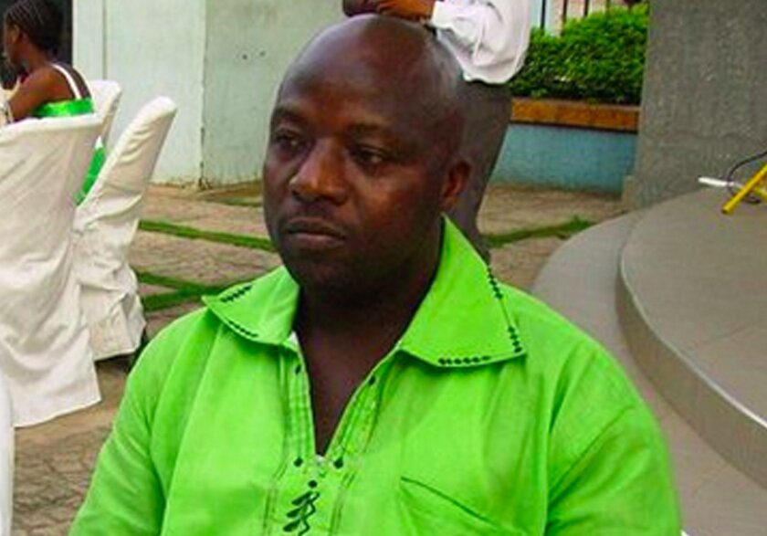 This 2011 photo provided by Wilmot Chayee shows Thomas Eric Duncan at a wedding in Ghana.  Duncan, who became the first patient diagnosed in the U.S with Ebola, has been kept in isolation at a hospital in Dallas since Sept. 28, 2014. (AP Photo/Wilmot Chayee)