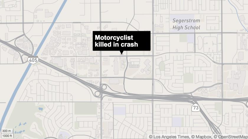 Motorcyclist killed in Costa Mesa crash - Los Angeles Times