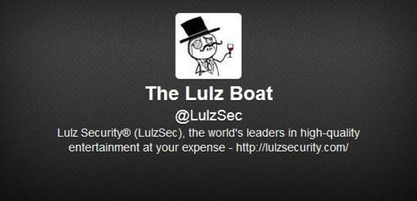 LulzSec used its Twitter account to inform the public of its 2011 cyberattacks.
