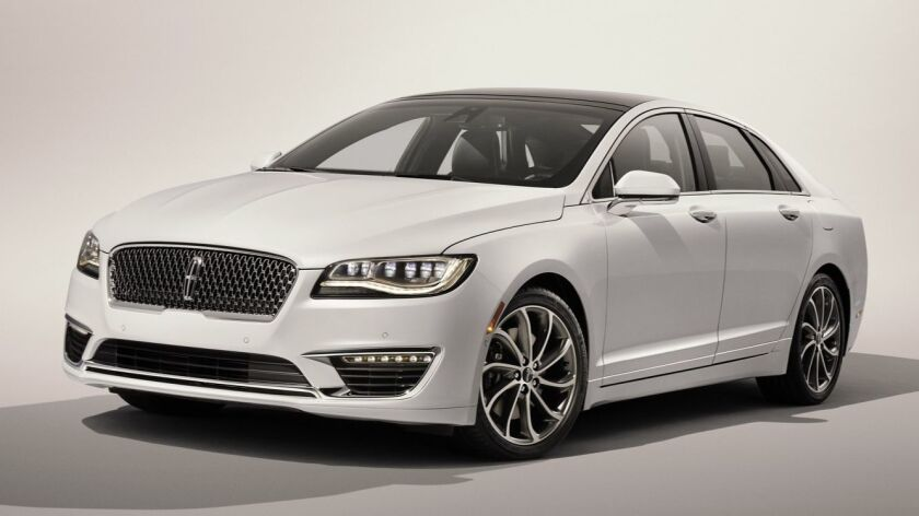 Available Driver's Package for 2017 Lincoln MKZ with 3.0-liter V6 also includes 19-inch wheels, Eb