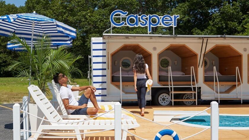 The Casper napmobile is taking reservations for free 10-minute snoozes on its memory foam mattresses