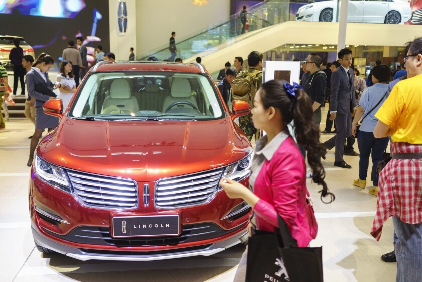 A Lincoln sedan at the Auto China 2014 show in Beijing last month.
