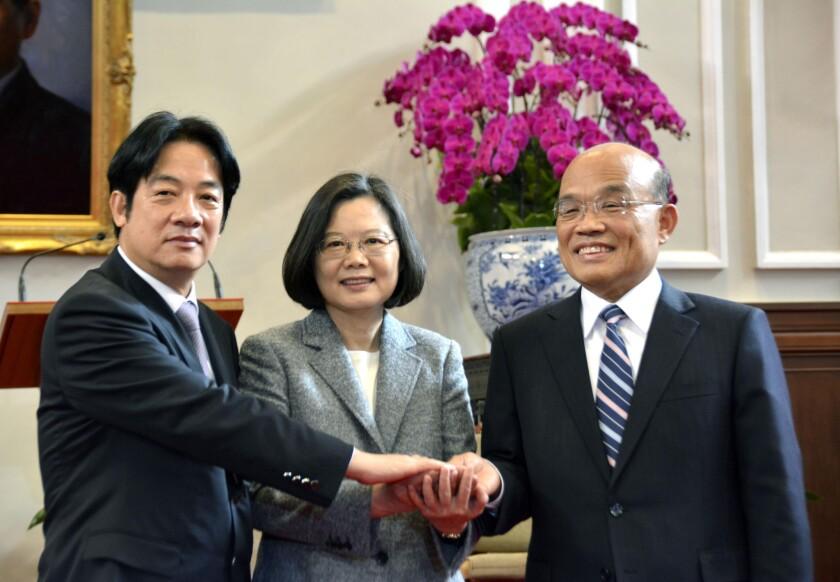 William Lai, Tsai Ing-wen, Su Tseng-chang