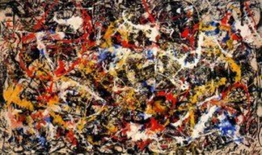 'Convergence' by Jackson Pollock (1952), oil on canvas, 93.5 inches by 155 inches. Courtesy