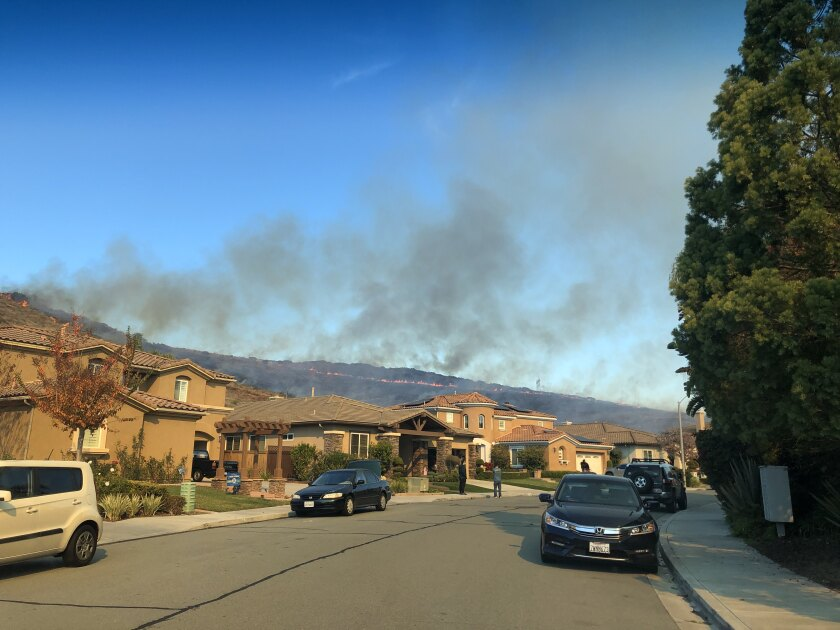 A fire east of Chula Vista charred more than 20 acres of brush Thursday morning, fire officials said.