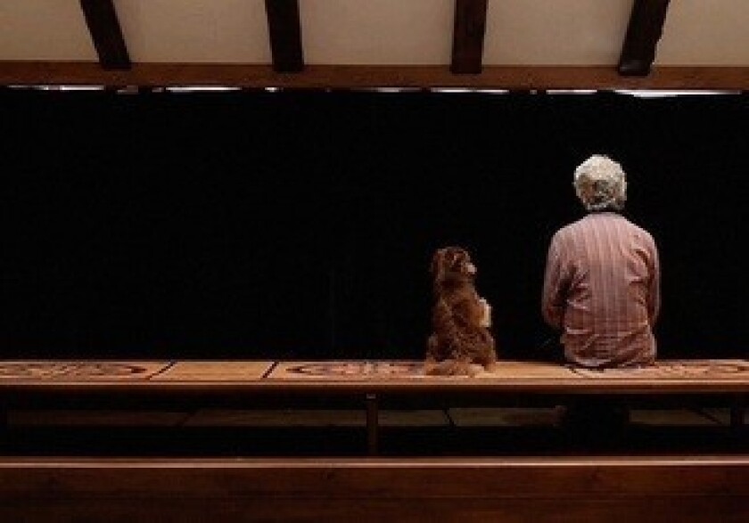 A scene from Jafar Panahi's 'Closed Curtain.'