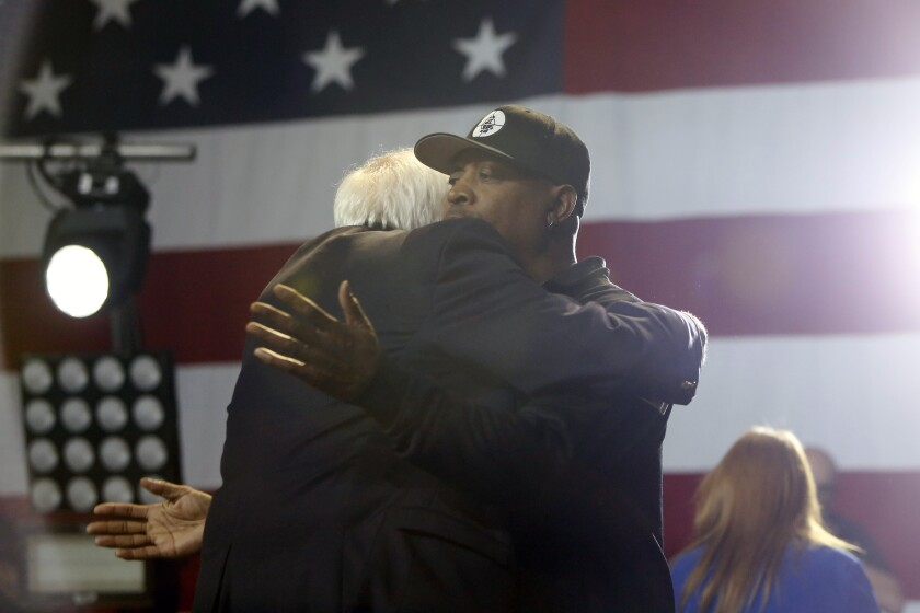 Bernie Sanders and Chuck D