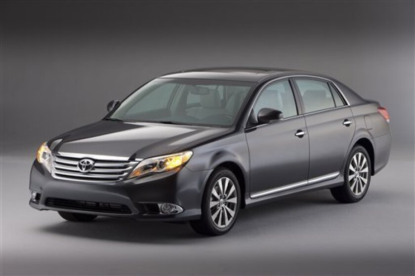 This undated image provided by Toyota shows the 2011 Toyota Avalon. (AP Photo/Toyota)