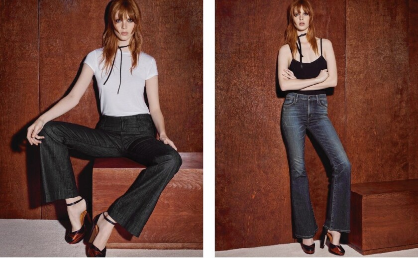 Return of flared jeans