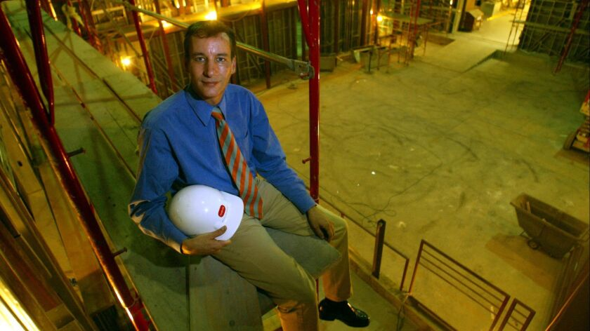 Mark Murphy, executive director of REDCAT, photographed in 2001 as the theater was under construction. He will leave his post at the end of the current season.