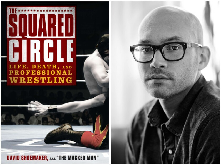 """The cover of """"The Squared Circle"""" and author David Shoemaker."""